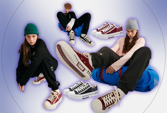 陈赫潮牌TIANC与Kappa推出联名系列帆布鞋